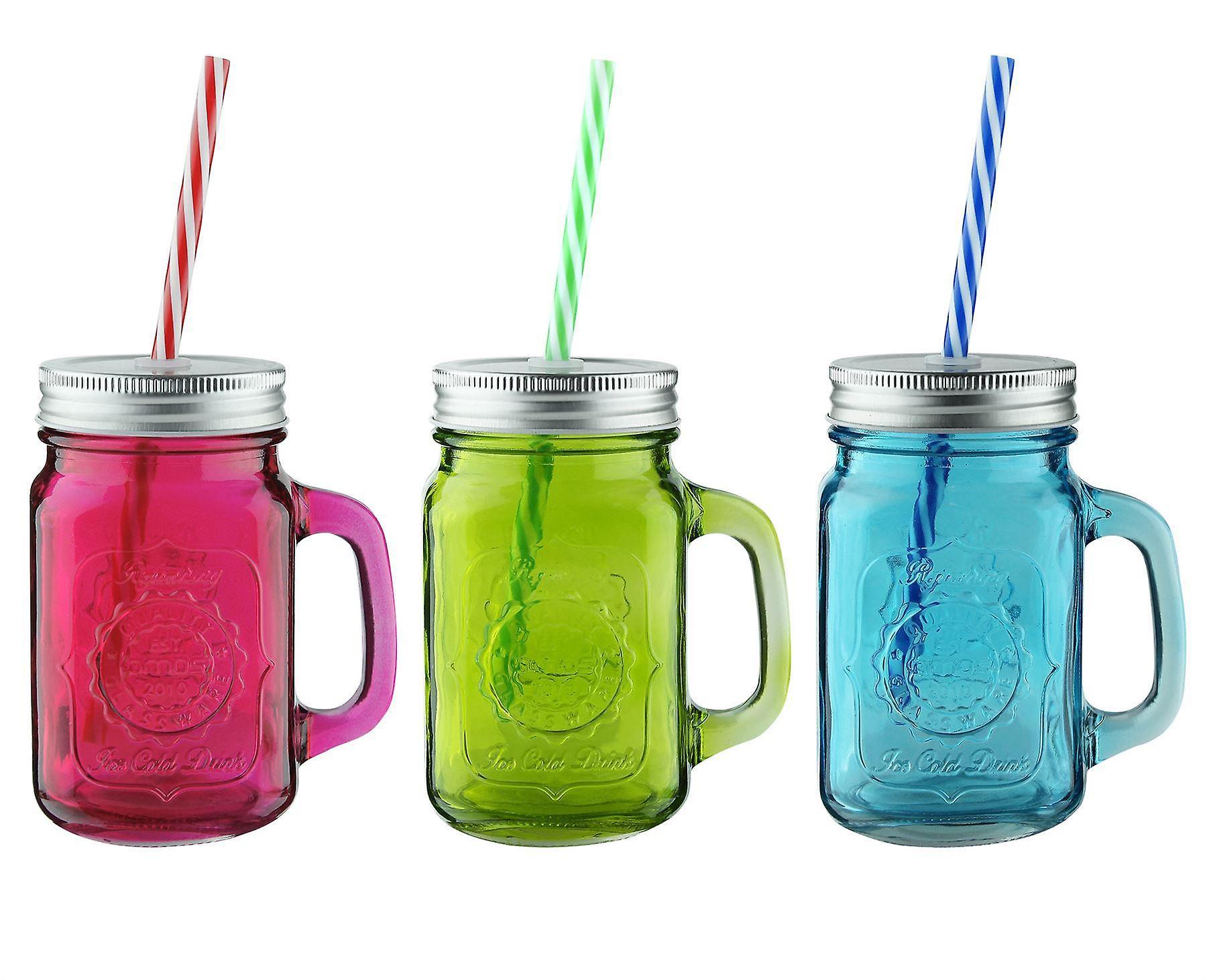 AMOS Coloured Mason Jars (3 Pack)