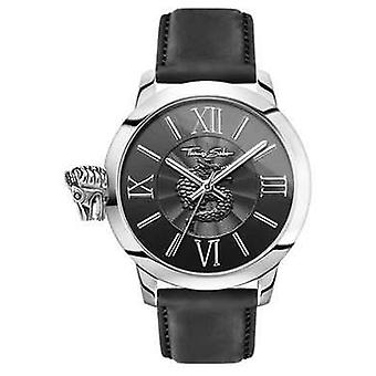 Thomas Sabo Mens Rebel With Karma Stainless Steel Black Leather WA0295-218-203 Watch