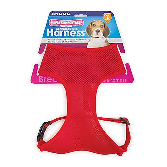 Comfort Mesh Dog Harness Red Small 34-45cm