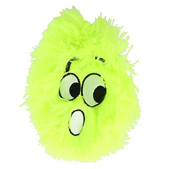 Children's 6 Inch Inflatable Neon Lime Green Shocked Funny Face Furry Ball With Eyes