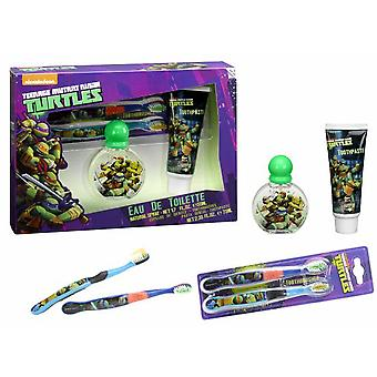 Tortugas Ninja Case (Colonia 50 V + Brush + Cream) (Children , Perfume)