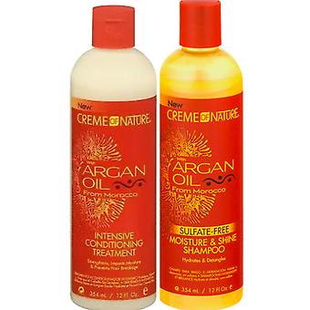 ARGAN OIL FROM MOROCCO INTENSIVE CONDITIONING TREATMENT & SULFATE FREE SHAMPOO**DEAL**