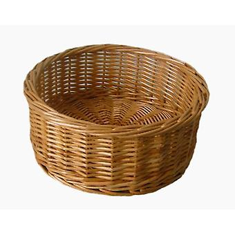 Small Round Straight Sided Wicker Tray