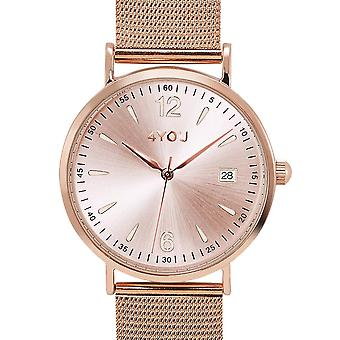 4YOU Herre ur wrist watch analog quartz rustfrit stål 250001016