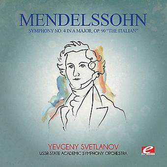 Felix Mendelssohn - Mendelssohn: Symphony No 4 in a Major Op 90 Italia [CD] USA import