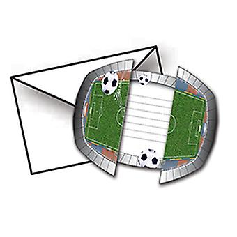 Soccer invitation party card 8 St. football party soccer decoration birthday
