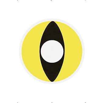 1 day lenses contact lenses yellow cat's eye Halloween