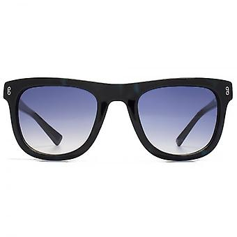 Hook LDN Latitude Chunky Wayfarer Acetate Sunglasses In Blue Tortoiseshell