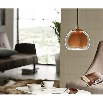 Eglo Rocamar Copper Globe Pendant Ball Light