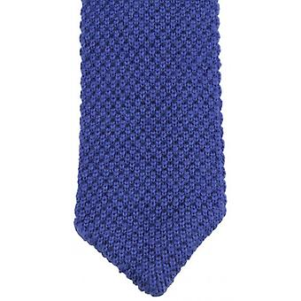 KJ Beckett Plain Wool Pointy Tie - Royal Blue