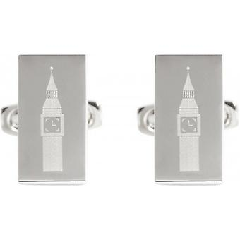 Simon Carter passeport à Londres Big Ben Cufflinks - Silver