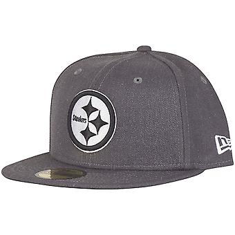 Ny æra 59Fifty Cap - grafit Pittsburgh Steelers grå