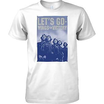 RAF - Lets Go - Wings For Victory - WW2 War Poster - Mens T Shirt
