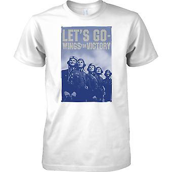 RAF - Go Lets - Flügel für Sieg - WW2 Krieg Poster - Herren-T-Shirt