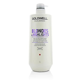 Goldwell Dual Senses Blondes & Highlights Anti-Yellow Conditioner (Luminosity For Blonde Hair) - 1000ml/33.8oz