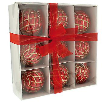 Christmas Shop Decorated Christmas Baubles (Set Of 9)