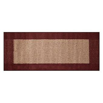 Madras Runner 57 x 150cms Maroon and Beige from Caraselle