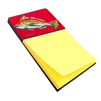 Fish - Red Fish Woo Hoo Refiillable Sticky Note Holder or Postit Note Dispenser