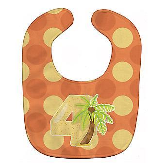 Carolines schatten BB9011BIB Zoo maand 4 Palm Tree Baby slabbetje