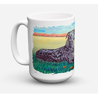 Scottish Deerhound lavastoviglie sicuro Microwavable Ceramic Coffee Mug 15 oncia