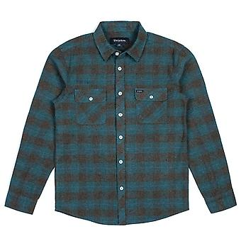 Brixton Bowery Long Sleeve Flannel Shirt Ocean