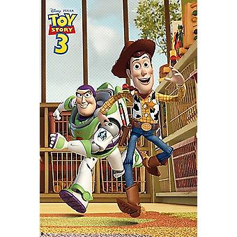Toy Story 3 - das Rennen Poster Plakat-Druck