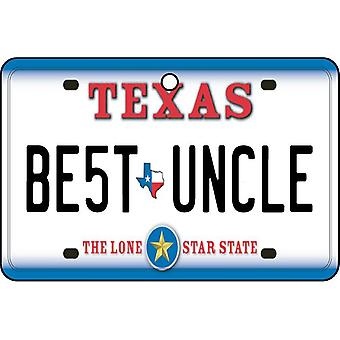 Texas - Best Uncle License Plate Car Air Freshener