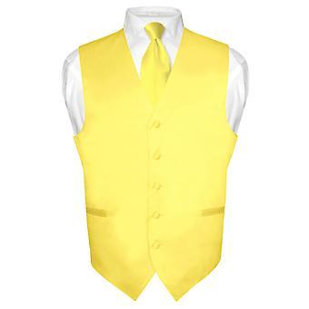 Gilet robe masculine & cravate cou solide cravate ensemble pour costume Tux