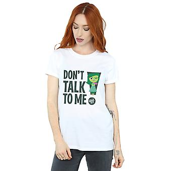 Disney Women's Inside Out Don't Talk To Me Boyfriend Fit T-Shirt