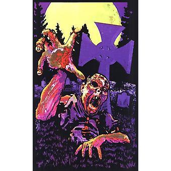 Black Light - Zombie Grave Poster Poster Print