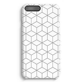 iPhone 7 Plus Full Print Case - Cubes black and white