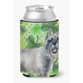 Carolines Treasures  BB9836CC Schnauzer St Patrick's Can or Bottle Hugger