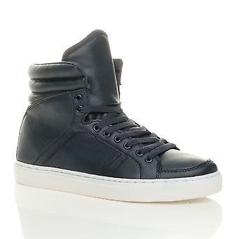 Ajvani Mens schnüren casual Flat Hallo hohen Top-Ankle-boots Schuhe Trainer Sneaker