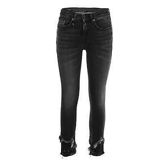 R13 women's R13W0108127 black cotton of jeans