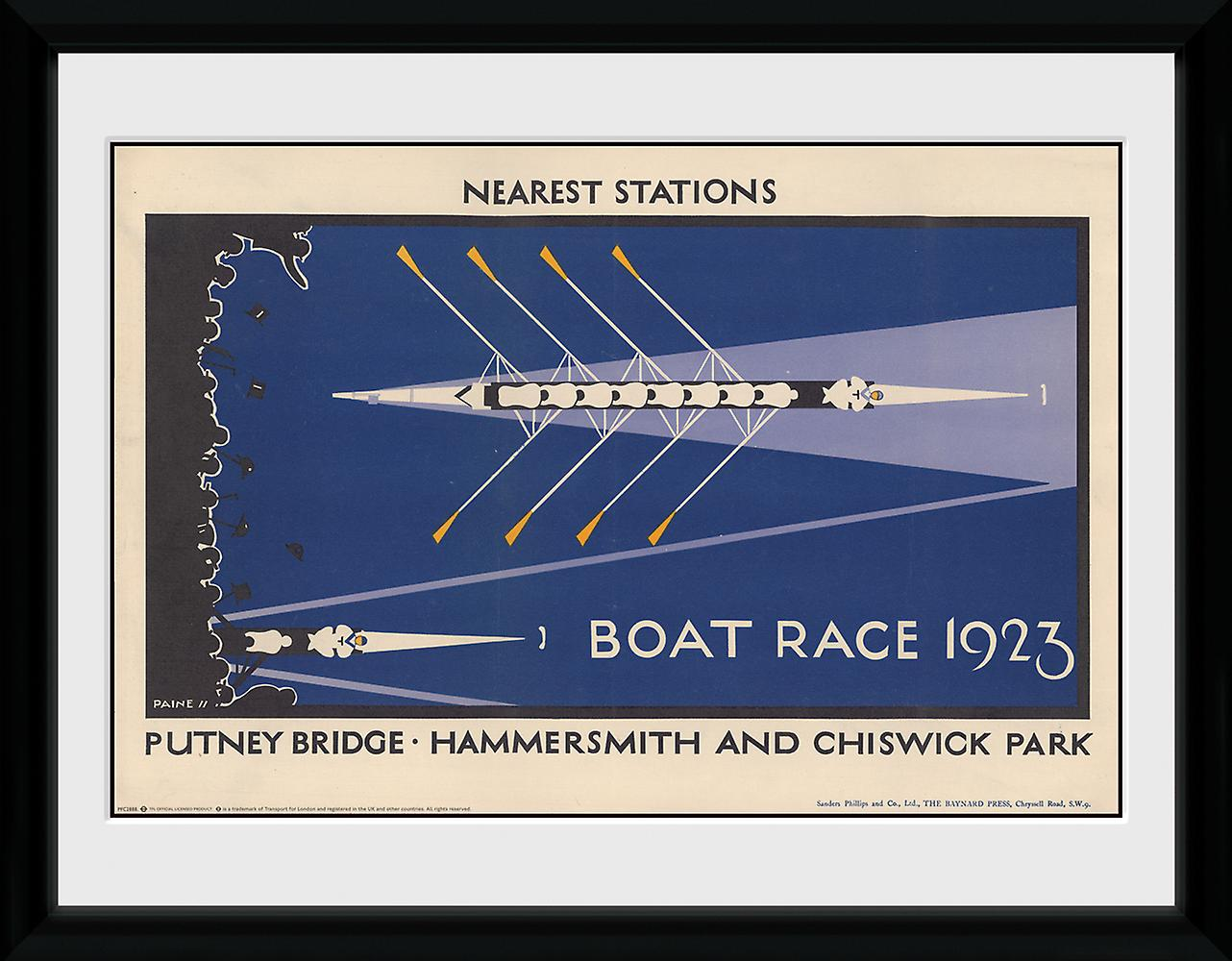 Transport For London Boat Race encadrée Collector Print