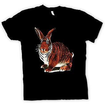 Мужская футболка-Тигр кролик поп-арт дизайн