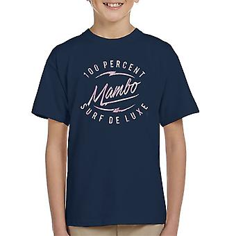 Mambo Bolt Deluxe Pink Kid's T-Shirt