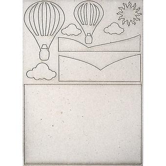 Creative expressions greyboard pop-EMS scène Hot Air Balloon * ^^