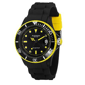 Candy time by Madison N.Y.. watch unisex U4485-41-1 yellow