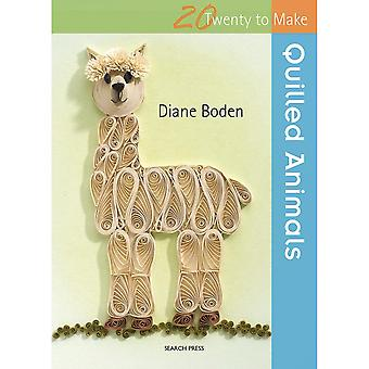 Search Press Books-20 To Make: Quilled Animals