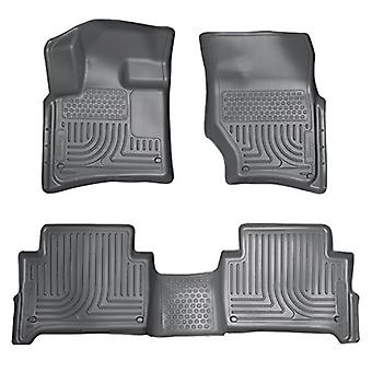 Husky Liners Front & 2nd Seat Floor Liners Fits 07-15 Audi Q7 Bench Seats