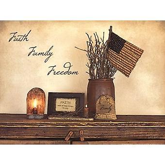 Foi liberté familiaux affiche Print par Susie Boyer (16 x 12)