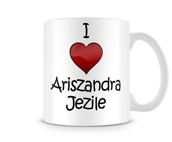 Amo la tazza stampata Ariszandra Libantino