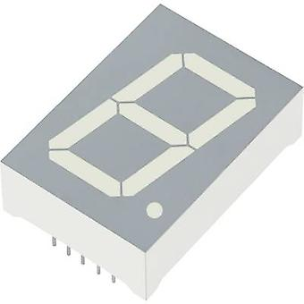 Kingbright Seven-segment display Red 25 mm 4 V, 2 V No. of digits: 1 SA10-21EWA
