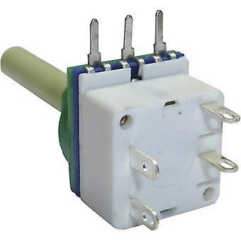 Potentiometer Service 7518 Single turn rotary pot + switch Mono 100 kΩ 1 pc(s)
