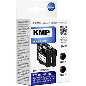 KMP Ink replaced Epson T1811, 18XL Compatible Pack of 2 Black E145D 1622,4021
