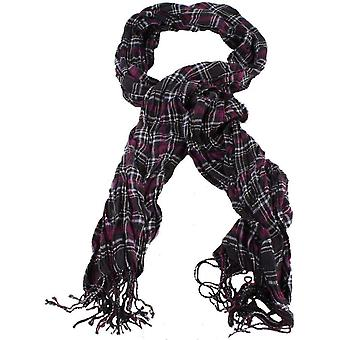 Bassin and Brown Grant Scrunched Scarf - Black/Purple