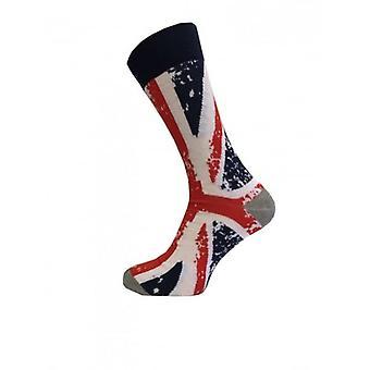 Union Jack porter des chaussettes de conception abstraite pour l'Union Jack Mesdames