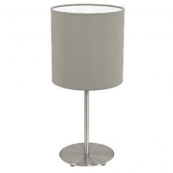 Eglo Pasteri bed Lamp met Taupe Drum schaduw