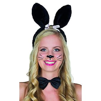 Bunny headband black bunny ears accessory adult Carnival